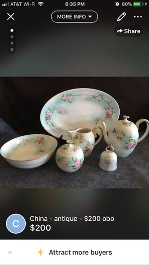 Antique Austrian hand painted china - Service for 12+ extra pieces for Sale in San Antonio, TX