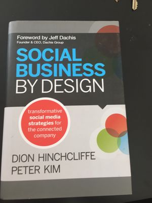 Social business by design book for Sale in New York, NY