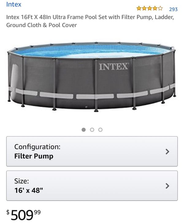 """16\' x 48"""" Intex ULTRA FRAME pool EXCELLENT condition. for Sale in ..."""