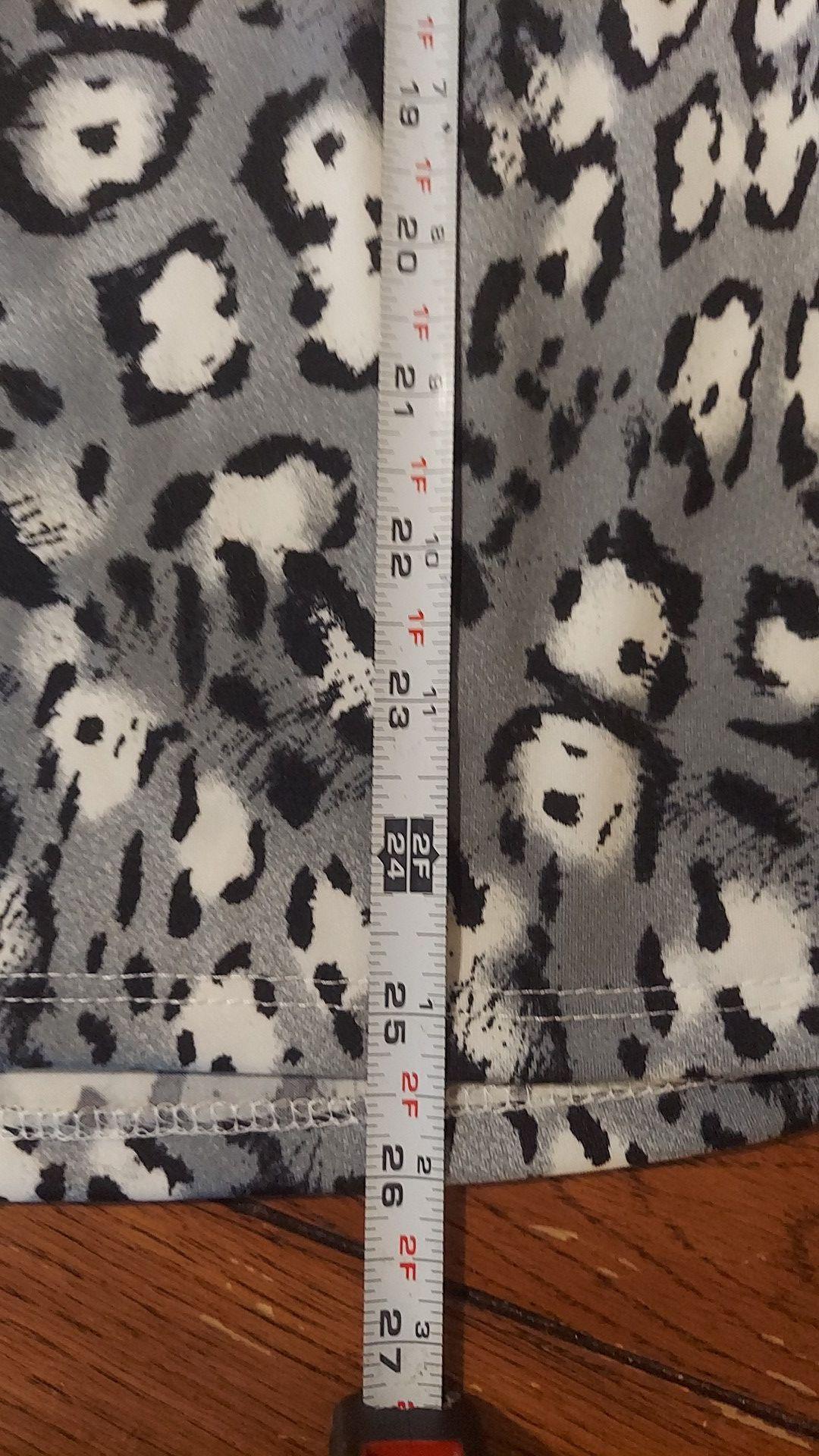 New tags Ashley Stewart gray leopard print tank top