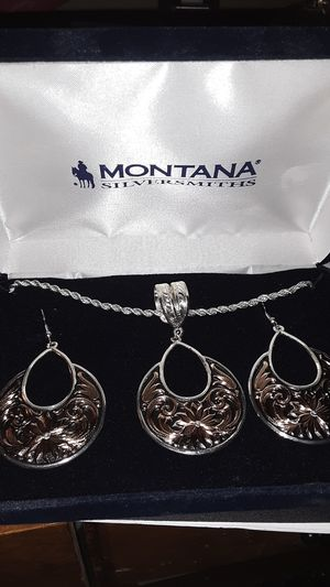 MONTANA SILVERSMITH EARRINGS AND NECKLACE SET NEVER WORN for Sale in Price, UT