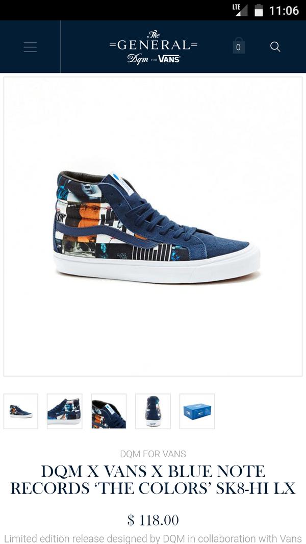 c8bef8c599 VANS DMQ BLUE NOTE RECORDS Sneaker men size 6 for Sale in Pasadena ...