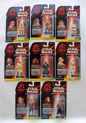 Star Wars 1998 Episode 1 Action figures W/ Commtech Chip by Hasbro.  (Lot)  Collection 1, Collection 2, Collection 3 for Sale in Scottsdale, AZ
