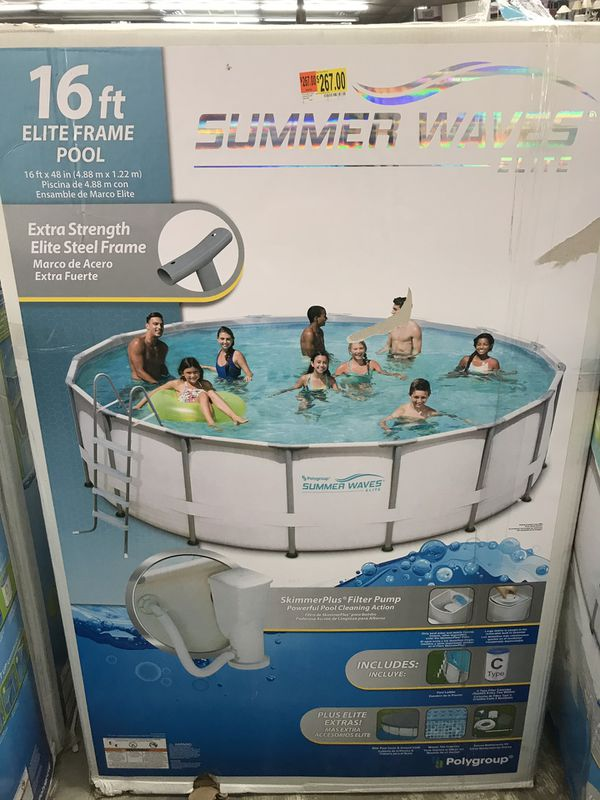Summer Waves 16 FOOT Swimming Pool for Sale in Kissimmee, FL ...