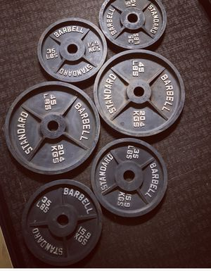 BARBELL Weight Plates 6 total 220 LBS for Sale in Arlington, VA