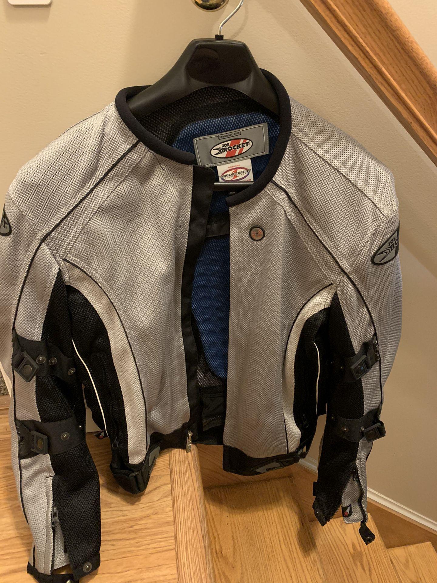 Photo Joe Rocket Motorcycle Jacket Ballistic Phoenix 4.0 With Rain Barrier Silver Size Large