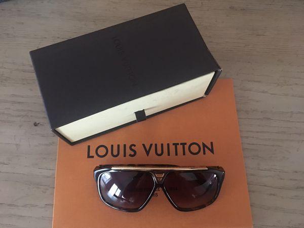 b44c472c1158 Authentic Louis Vuitton Millionaire Evidence Sunglasses Brown Gold ...