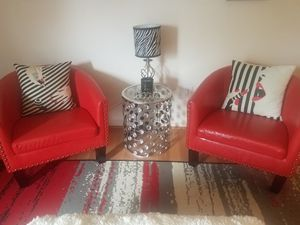 Red accent chairs for Sale in Alexandria, VA