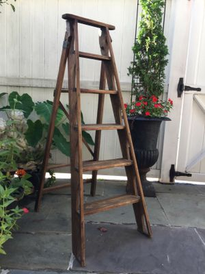 """European antique wooden ladder. 52"""". Great display piece for the holidays for Sale in Fort Washington, MD"""