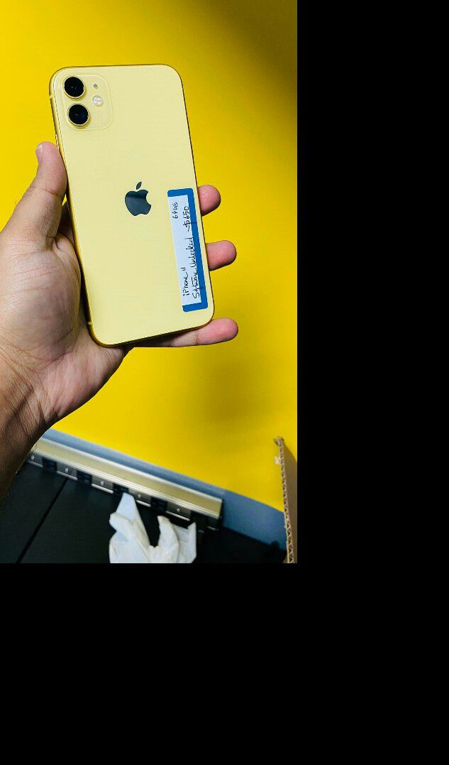 iPhone 11 yellow Tmobile Metro Att Cricket (Finance for $50 down) $550