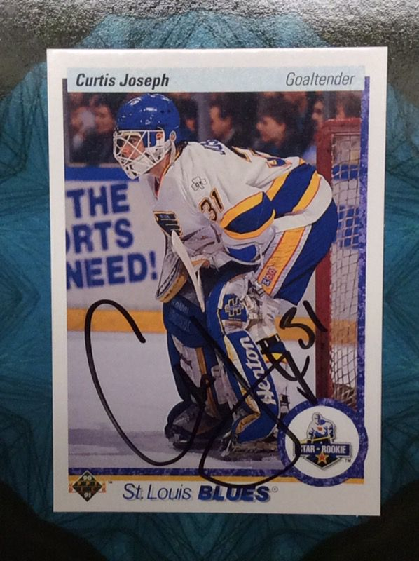 Autographed Curtis Joseph Rookie Card For Sale In Ballwin Mo Offerup