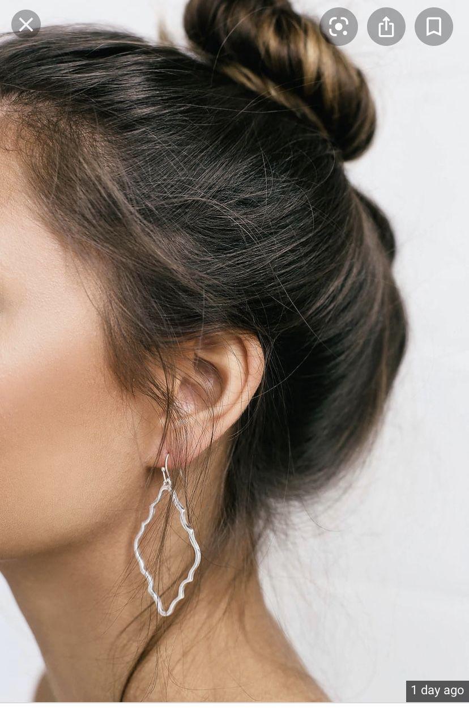 Lulu's silver earrings
