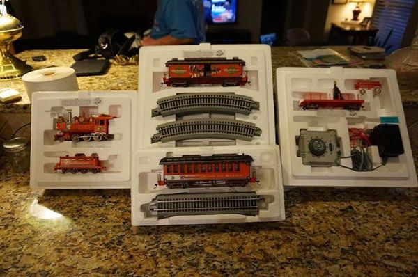0f1bbf5ef Anheuser-Busch  Budweiser Holiday Express Train Set. Never been used.  Electric Train with track