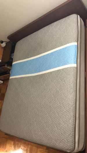 Queen frame + two sided pillow top queen mattress+ night stand for Sale in Arlington, VA