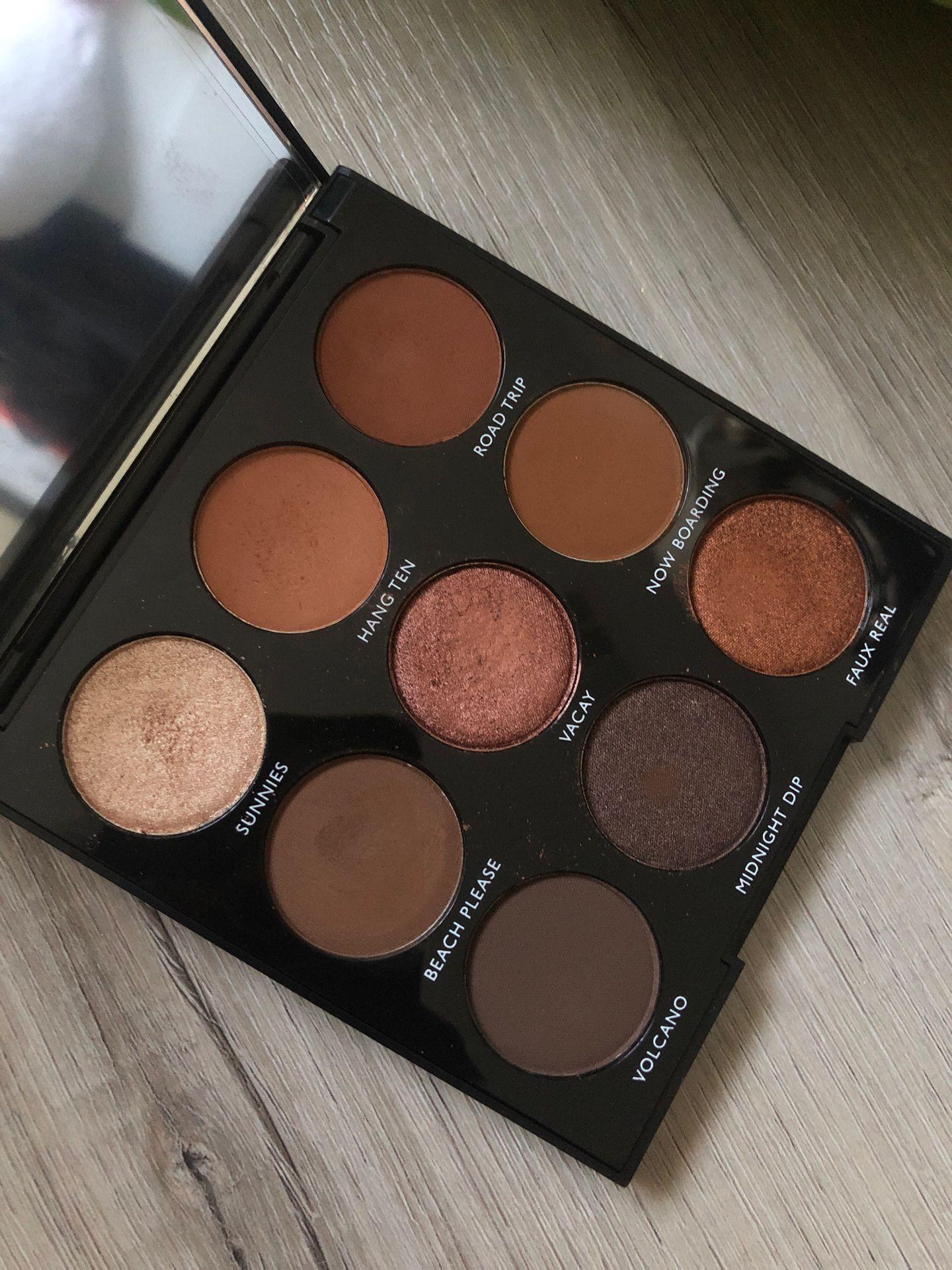 Morphe 9B palette bronzed babe eyeshadow palette
