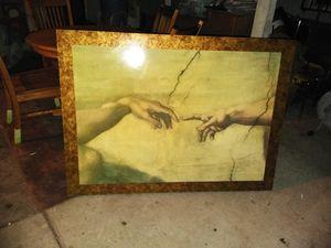 michelangelo: 54x39 hands of god and adam for Sale in San Bernardino, CA