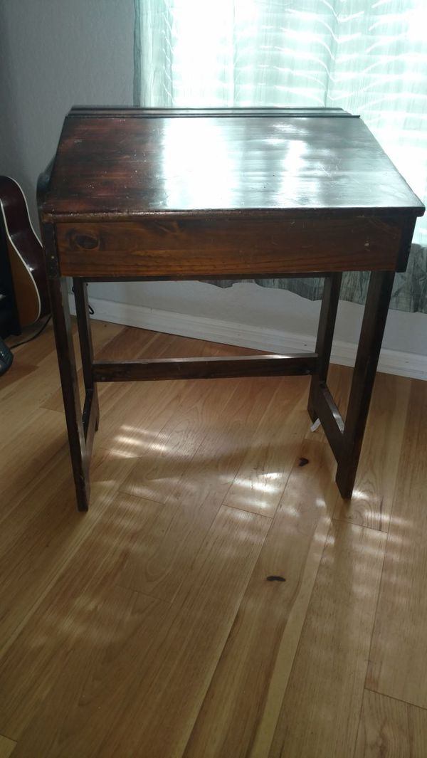 Antique wooden student desk for Sale in Dade City, FL - OfferUp