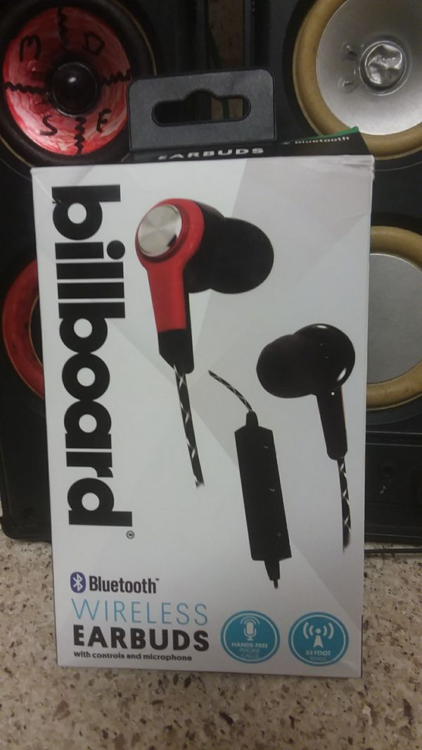 Billboard Bluetooth wireless earbuds with controls and microphone for Sale  in Knoxville, TN - OfferUp