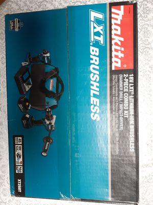 Photo Makita 18V LXT Brushless 5Ah×2 Combo 2-Tool Kit ~NEW~
