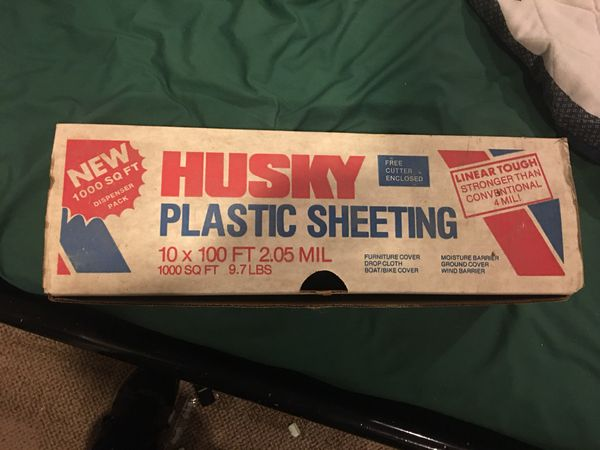 Husky plastic sheeting brand new 1000 square feet for sale in husky plastic sheeting brand new 1000 square feet for sale in wayne il offerup publicscrutiny Gallery