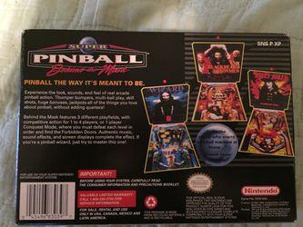 SNES Super Pinball Behind the Mask CIB Thumbnail