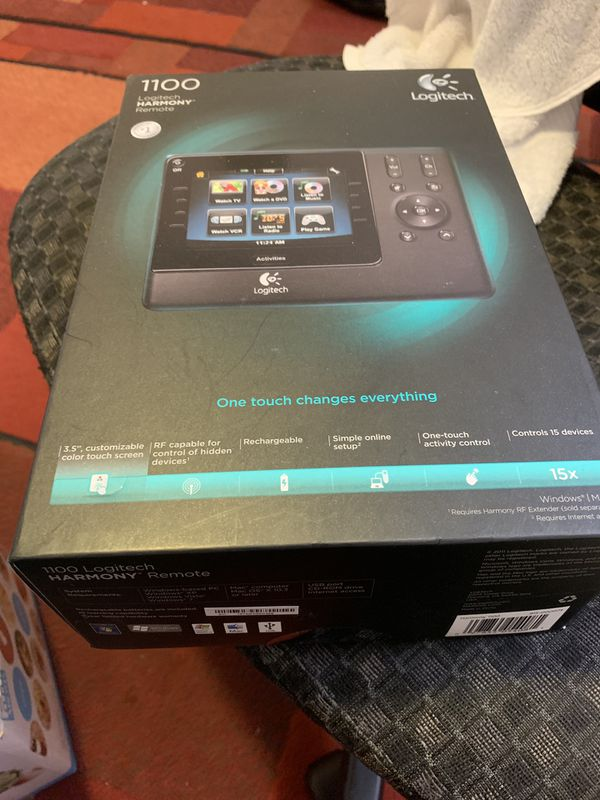 Logitech Harmony 1100 Universal Home Theater Remote Control for Sale in  Sunnyvale, CA - OfferUp