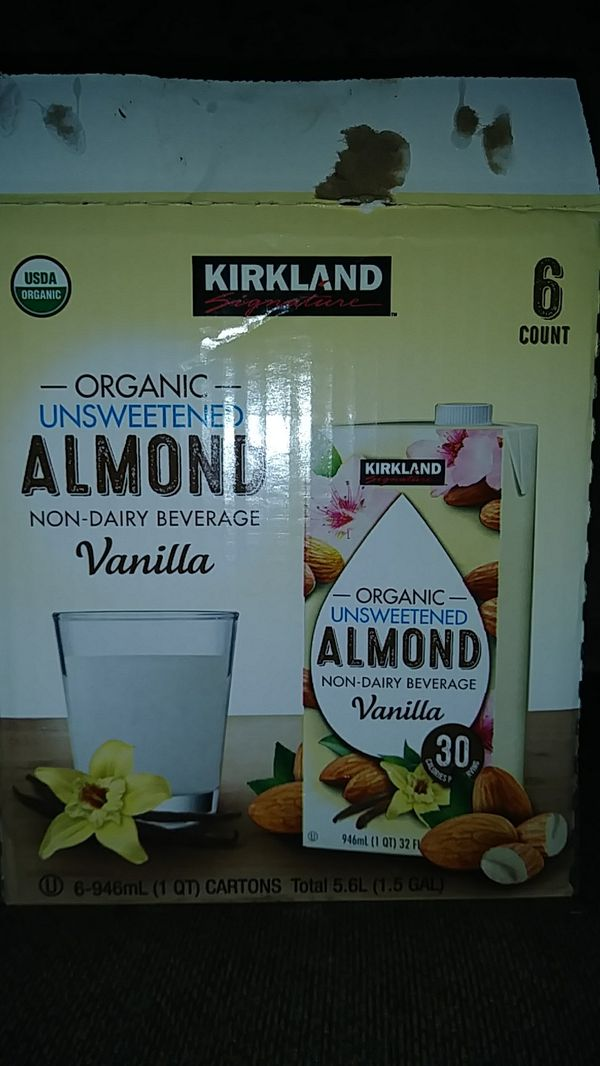 Kirkland Organic Unsweetened Almond Milk (5 Count for Sale in Calimesa, CA  - OfferUp