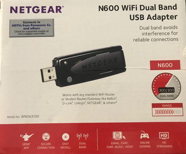 WiFi USB adapter  Netgear N600 WiFi dual band adapter  for Sale in  Riverview, FL - OfferUp