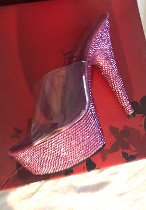 Photo Hot Pink Gem Pleaser brand high heels sz 6
