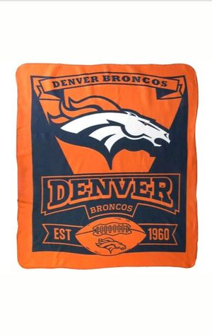 "Denver Broncos 50""×60"" Fleece Throw Wrapped! for Sale in Denver, CO"