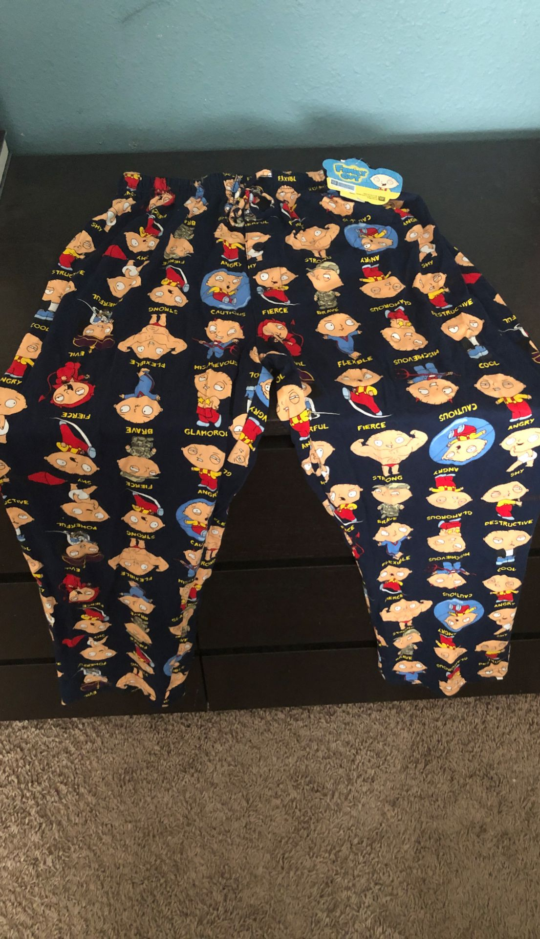 Family Guy Stewie Pajama Pants Size Small - brand new still has tags