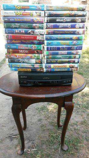 26 Classic Disney VHS Movies and VCR Player for Sale in Washington, DC