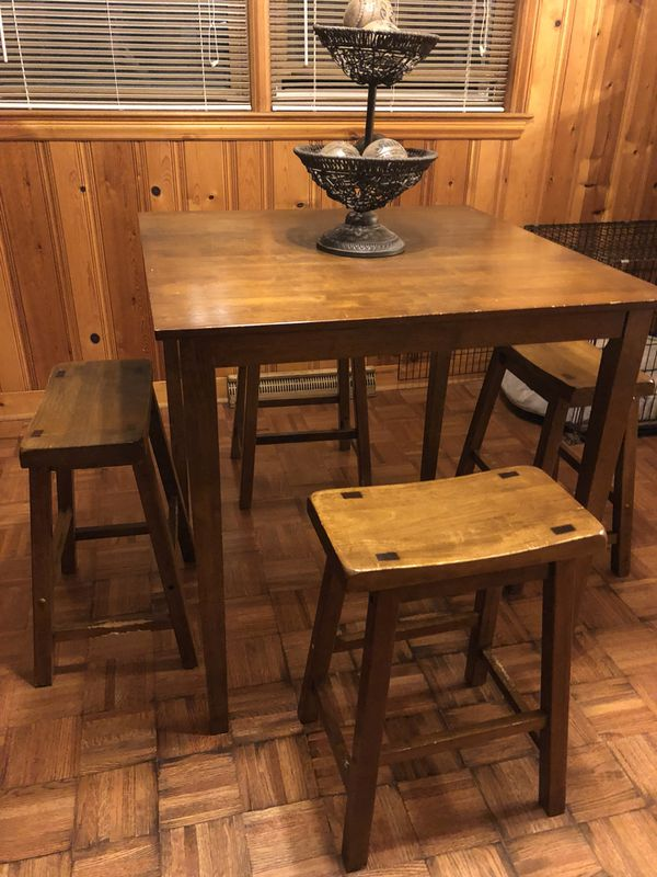 Wood Bar Stool Counter Height Table For Sale In Greensboro