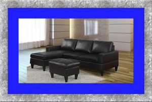 Black sectional free ottoman and delivery for Sale in Hyattsville, MD
