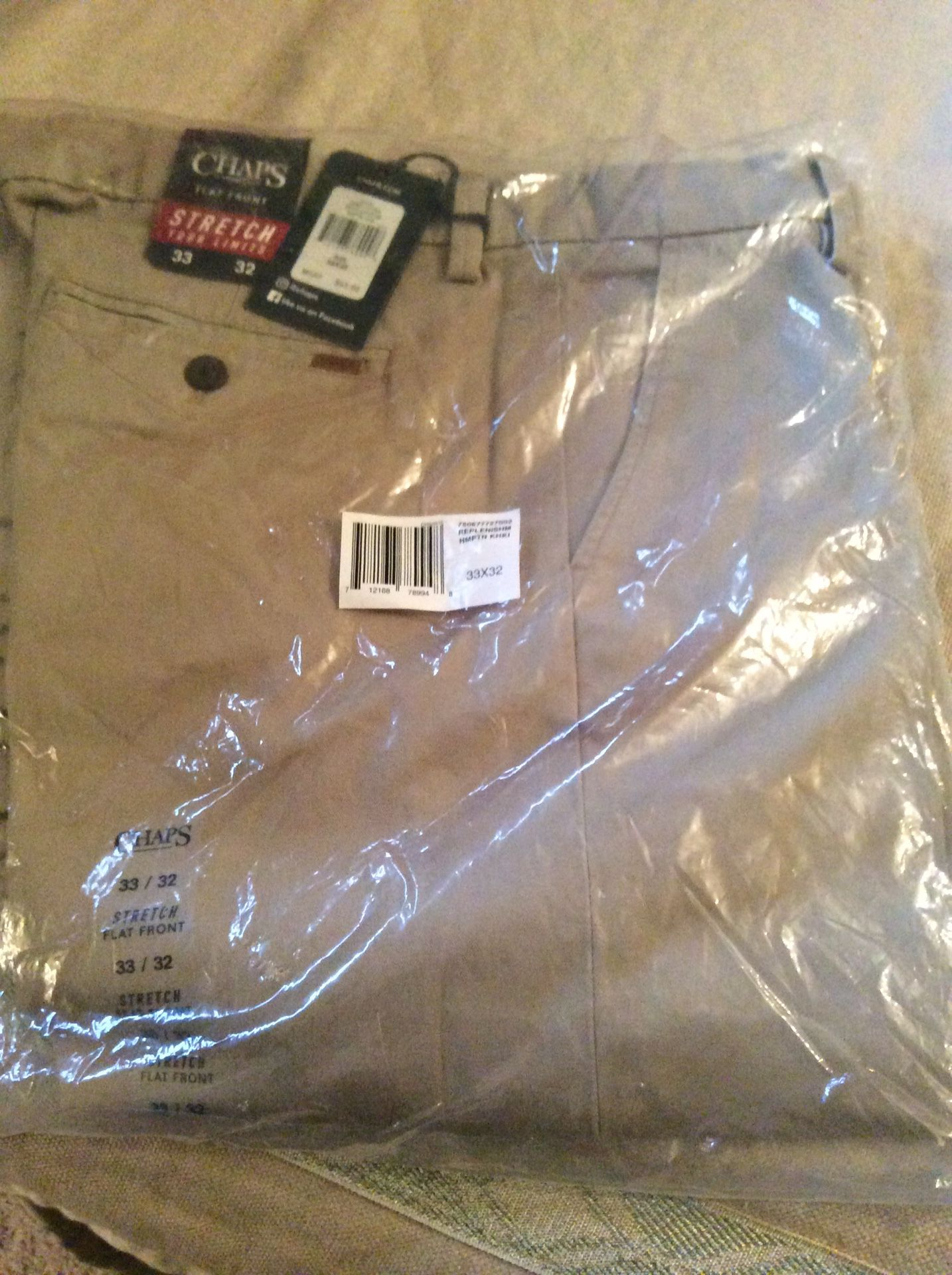 Brand new unopened Chaps flat front pants