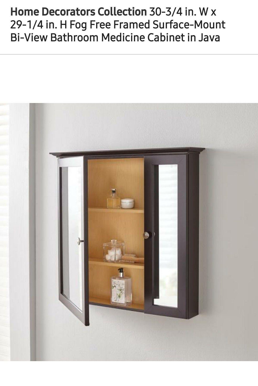 New Home Decorators Fog Free Framed Medician Cabinet, Retail $100!!!-$50(