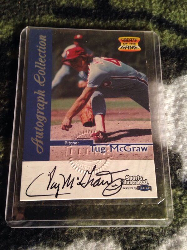 Tug Mcgraw Autographed Card For Sale In Tempe Az Offerup