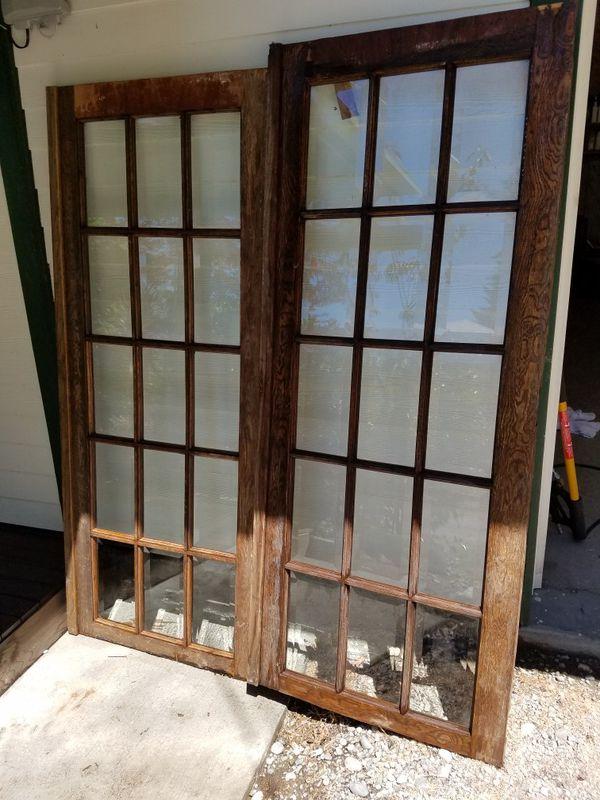 Antique French doors. 1