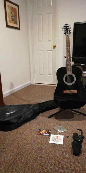 Beginner's Guitar, Starter Pack, Black for Sale in Chantilly, VA
