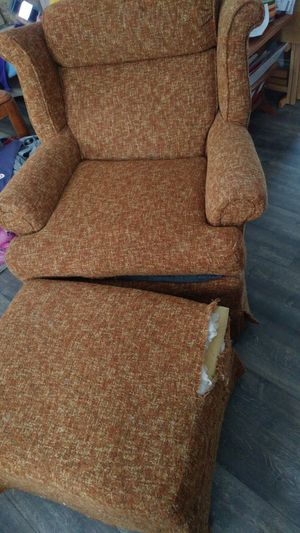 Chair with ottoman for Sale in Fredericksburg, VA
