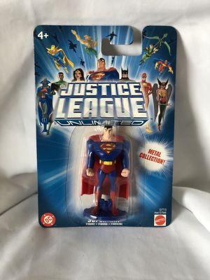 Dc-superman justice league unlimited mini metal figure superman for Sale in Kissimmee, FL