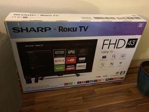 "Sharp 43"" Roku TV w/ 3 yrs geek squad protection left for Sale in Houston, TX"