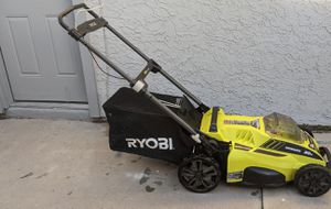 Photo Ryobi 20 cordless lawnmower
