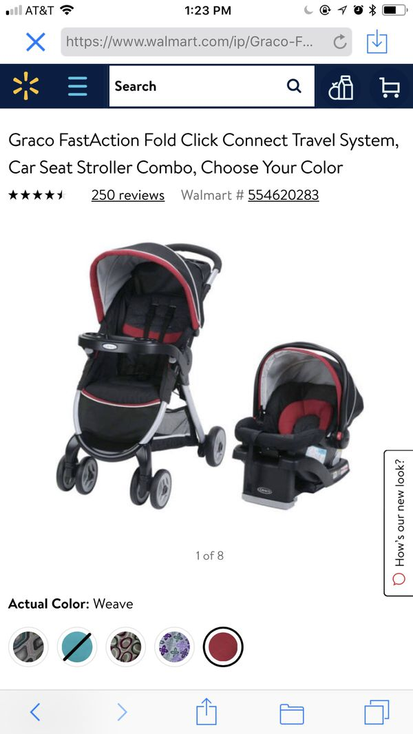 37c422810b2 Graco FastAction Fold Click Connect Travel System