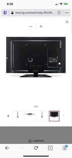 Lg 55 inch tv ls4600 model Thumbnail