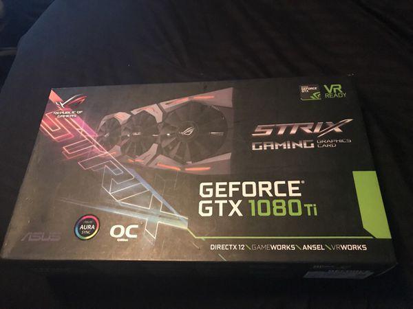 Asus Strix GeForce GTX 1080 ti for Sale in West Palm Beach, FL - OfferUp