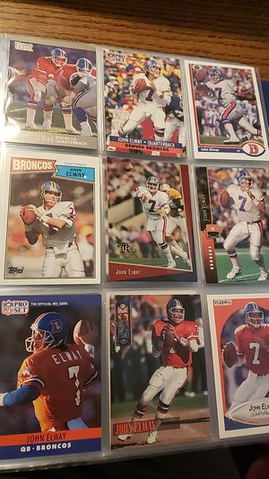 Photo (9) John Elway Football Cards