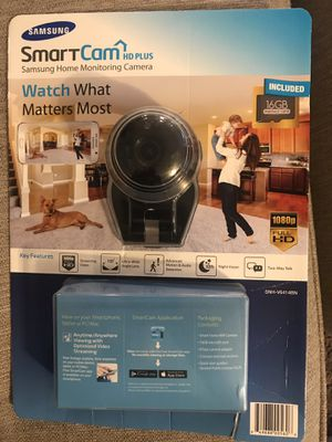 Samsung SNH-V6414BN SmartCam HD Plus 1080p Wi-Fi IP Monitoring Camera for Sale in Graham, WA