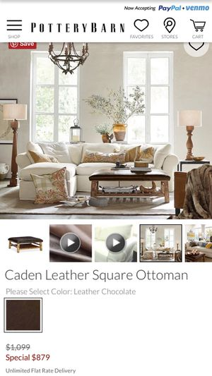 Super Pottery Barn Caden Leather Ottoman For Sale In Mokena Il Camellatalisay Diy Chair Ideas Camellatalisaycom