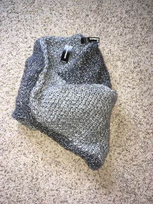 EXPRESS grey/silver cowl scarf for Sale in Seattle, WA